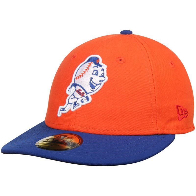 purchase cheap 8ba20 8f547 New York Mets New Era 2T Patched Low Profile 59FIFTY Fitted Hat - Orange