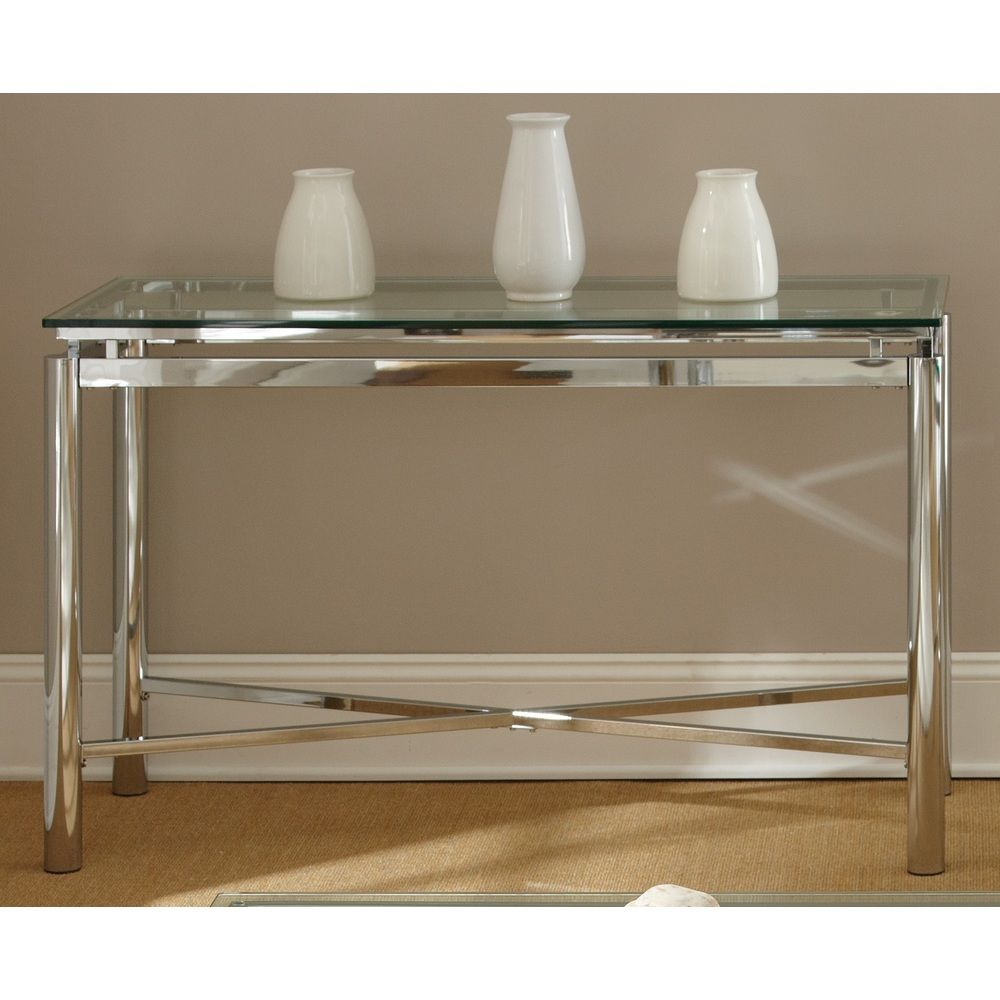 Natal chrome and glass sofa table overstock shopping great natal chrome and glass sofa table overstock shopping great deals on coffee geotapseo Images