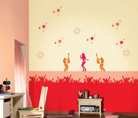 trendy stencil wall fashion for your home read more at httpghar360 - Asian Paints Wall Design