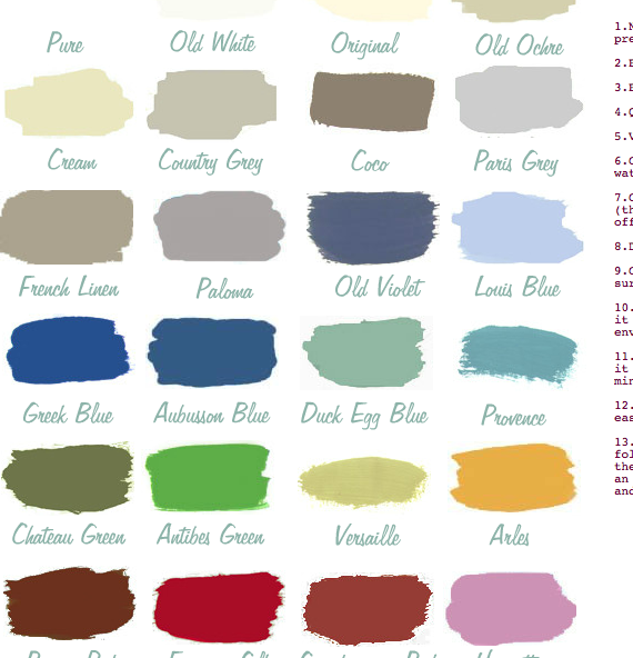 Annie sloan paint colors c o l o u r palet pinterest for Chalk paint at sherwin williams