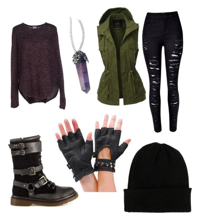 """Fray's Winter Outfit"" by direwolfpixie on Polyvore featuring Penny Loves Kenny, Vero Moda, LE3NO, WithChic and NLY Accessories"