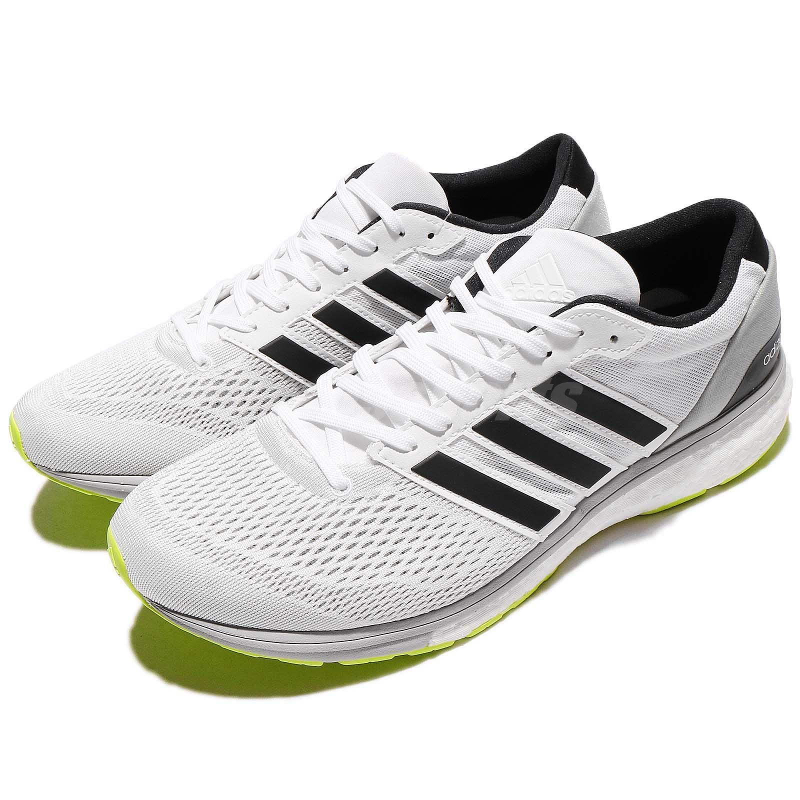look for 1ea58 1bd6a adidas Adizero Boston 6 M White Black Green BOOST Men Running Shoes CG3142