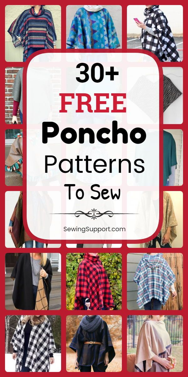 30+ Free Poncho Sewing Patterns