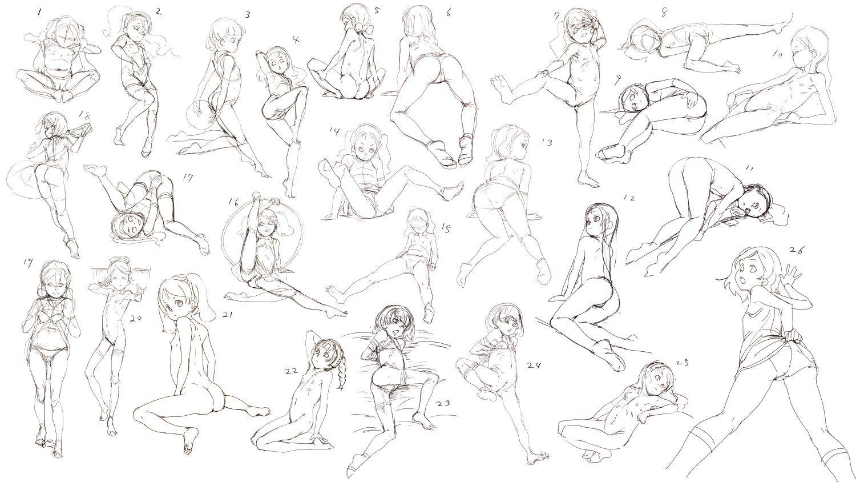 ロリポーズ集 絵資料 In 2019 Figure Sketching Art Art
