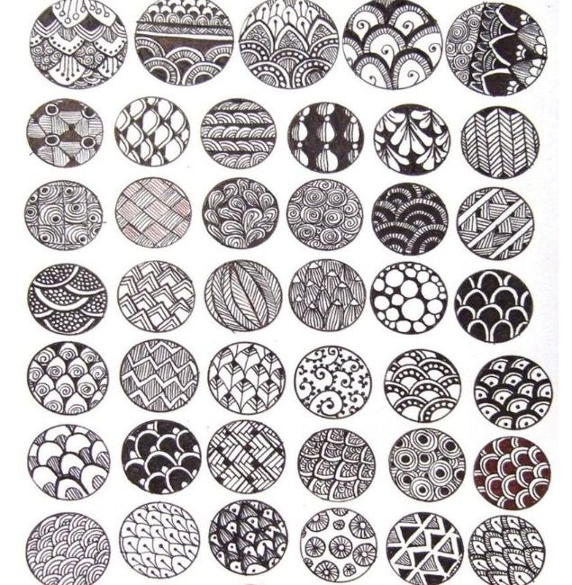 Pattern Ideas For DIY Artwork Zentangles Pinterest Diy Artwork Fascinating Zentangle Pattern Ideas