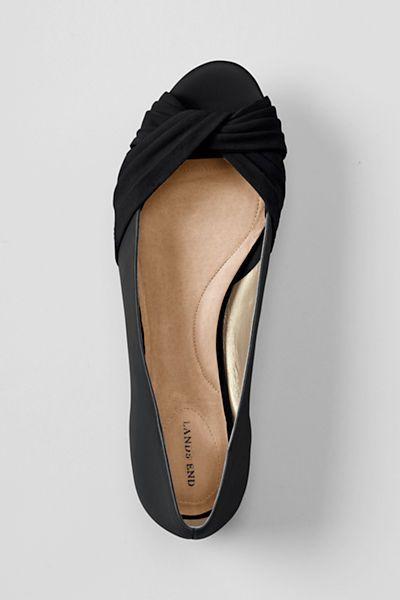 Peep toe flats, Bridesmaid shoes