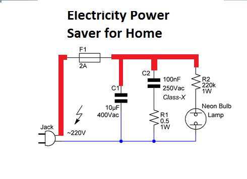 Electricity Power Saver for Home Application Circuit diagram