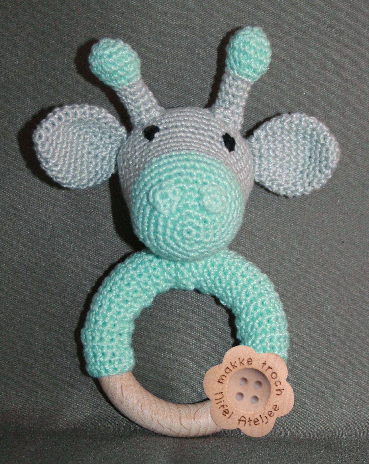 Rammelaar Giraf Crochet Pinterest