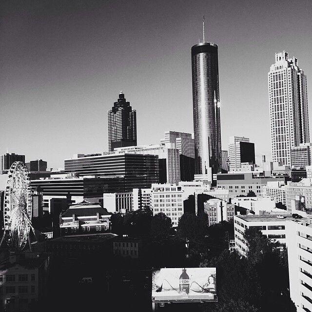 Atlanta in black and white.