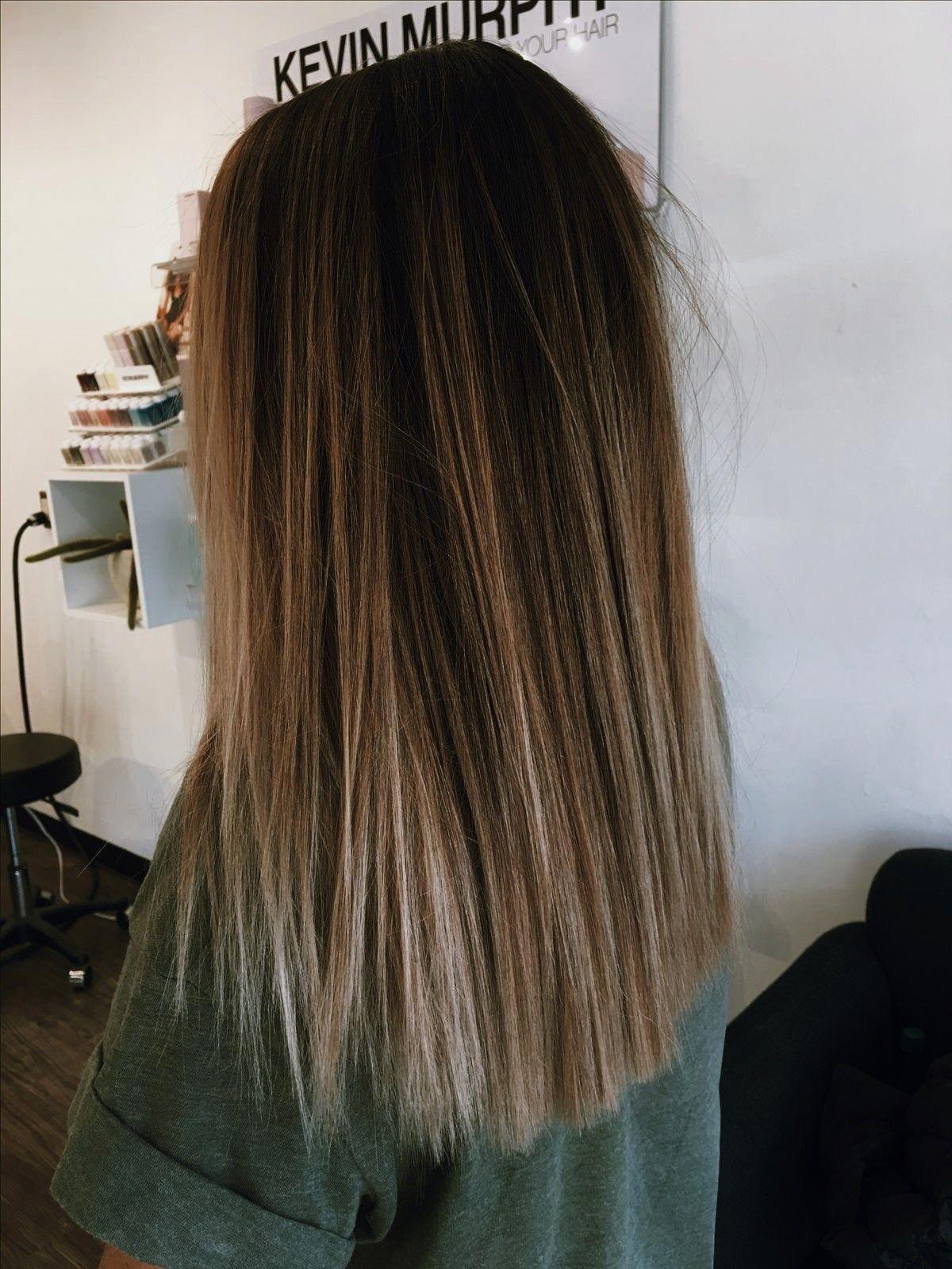 Ash Brunette Wavy Vs Straight Hair Texture Medium To Coarse Natural Level 2 Technique Babyl Balayage Straight Hair Haircuts Straight Hair Straight Hair Updo