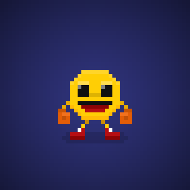 Famous Characters In Pixel Art Pac Man From Pac Man Videogames #pacman  #namco #