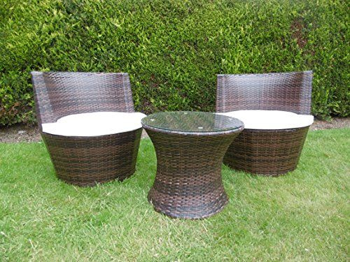 Rattan 2 Seater Sofa Egg Set Table Chairs Garden Furniture Patio ...