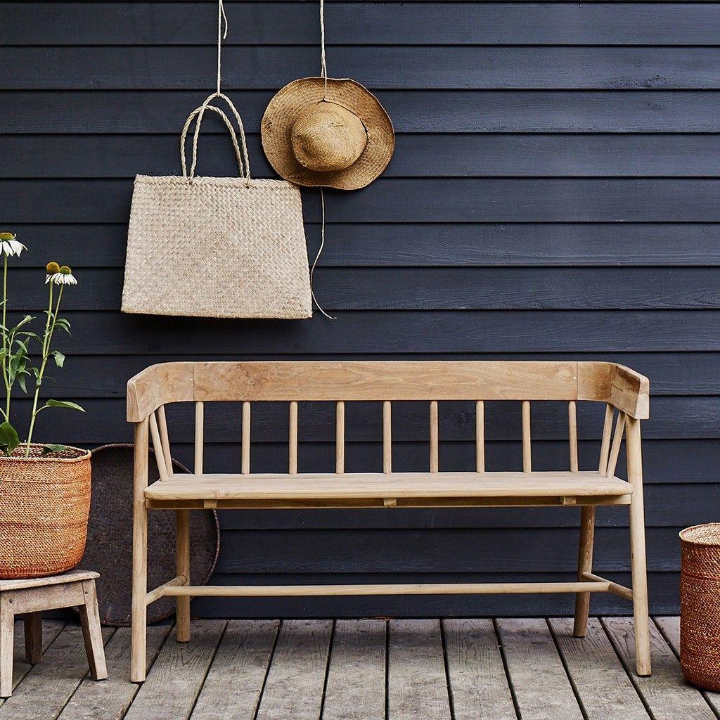 Byron Outdoor-Indoor Bench in 2019 | Wooden bench seat ...