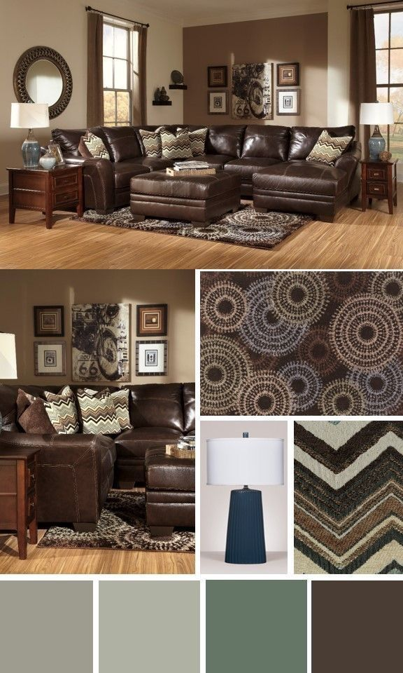 Brown Furniture Colors Amp Accent Wall In 2019 Living