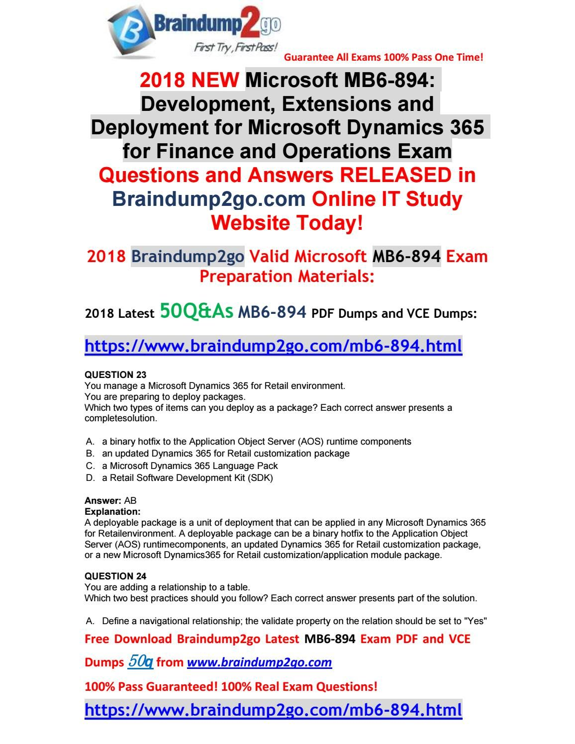 2018 new microsoft exam mb6 894 pdf and vce dumps 50qas free 2018 new microsoft exam mb6 894 pdf and vce dumps 50qas free share 23 1betcityfo Image collections
