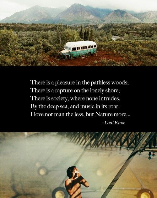 I LOVE MAN NOT THE LESS, BUT NATURE MORE