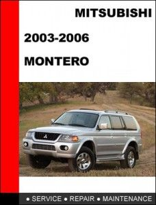 mitsubishi pajero montero 2004 2005 technical service manual rh pinterest com 2005 mitsubishi montero repair manual 2005 mitsubishi montero owners manual