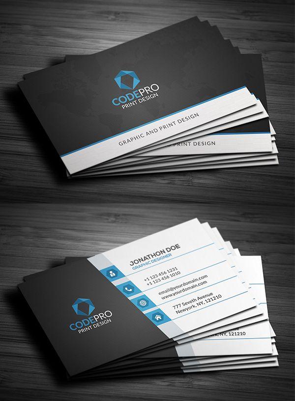 Creative Business Card Psd Templates 28 Print Ready Design Business Card Design Business Card Template Design Business Card Psd