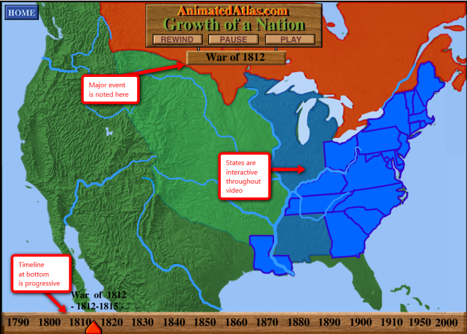 Dont Miss This Westward Expansion Website Social Studies - Map of us during westward expansion