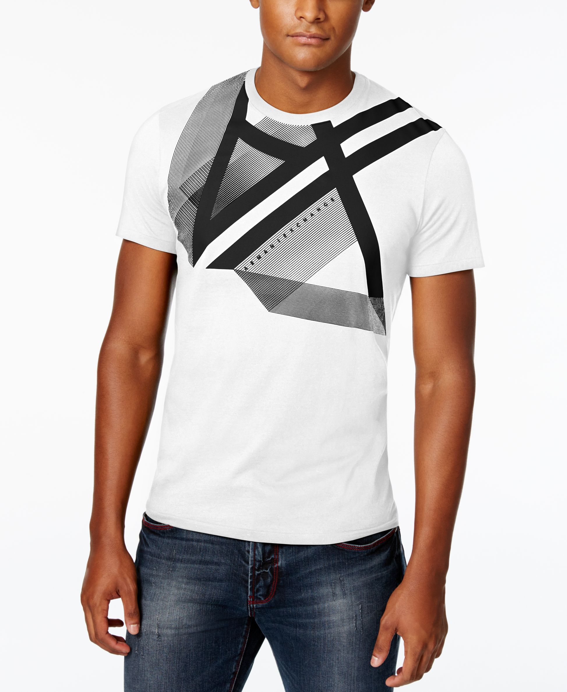 24e302ea5ed531 Armani Exchange Men s Right Side Up Graphic-Print Logo T-Shirt - that  should be mine!