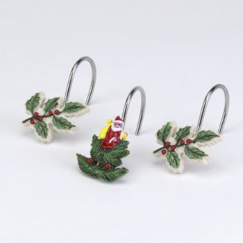 Kohls Spode Christmas Tree 12 Pk Shower Curtain Hooks