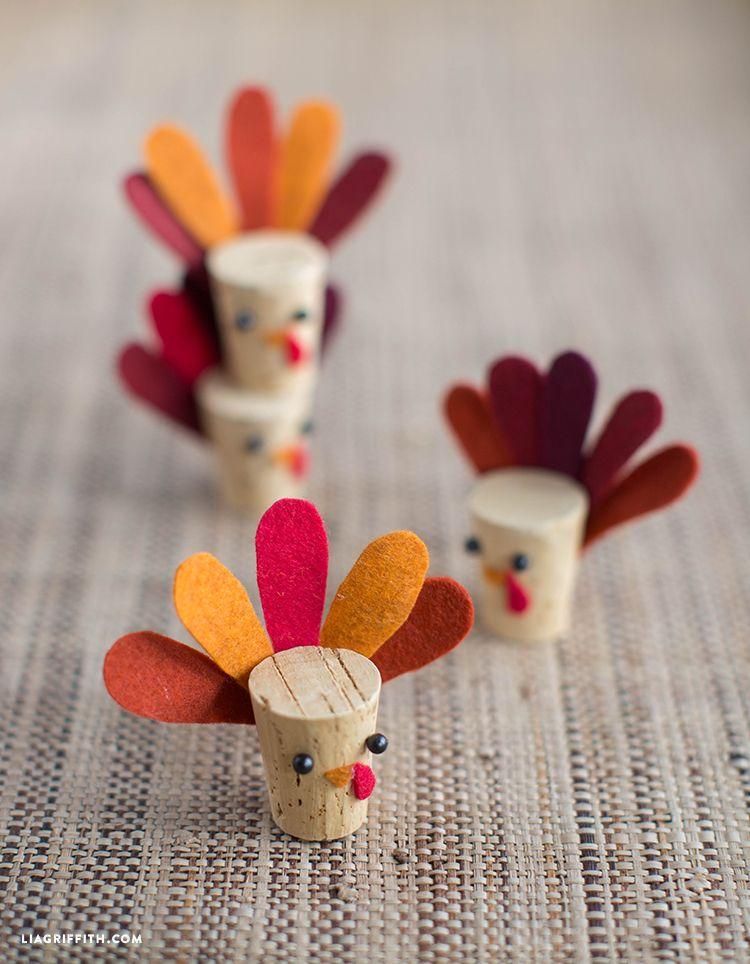 DIY Cork Turkey Kids Craft Turkey crafts kids