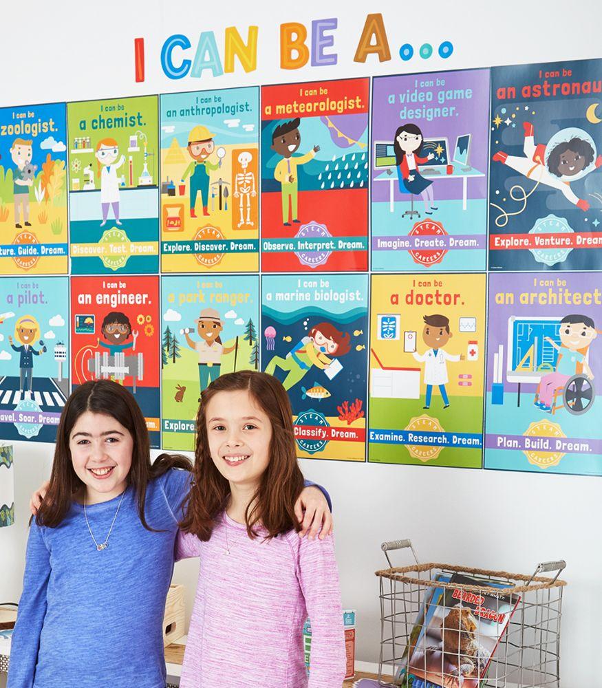 Stem School Classroom: STEAM Careers Bulletin Board Set Grade K-5