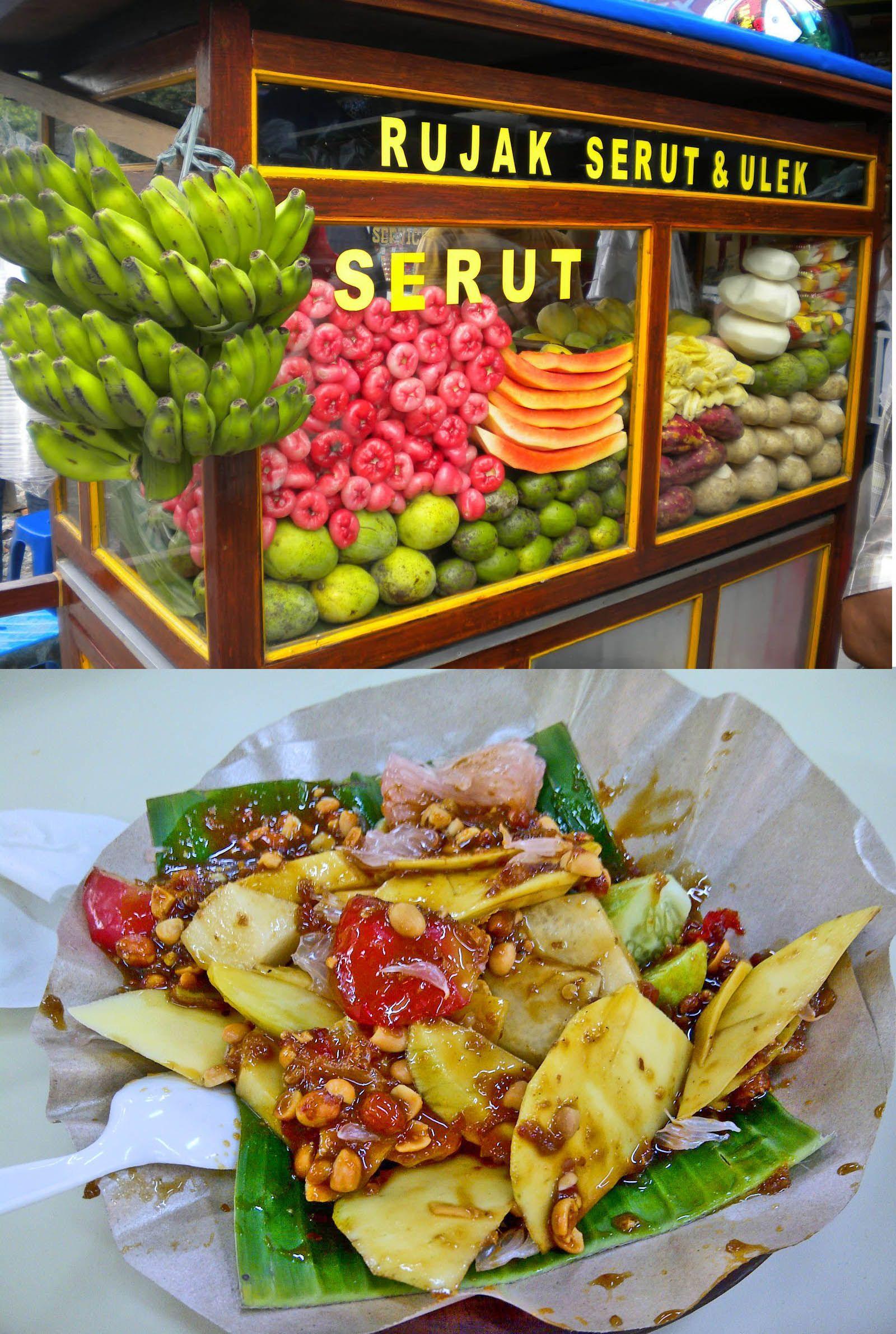 Rujak Ulek Buah Indonesianrecipe Resep Indonesiansstreetfood Masakan Asia Buah Segar Makanan Enak