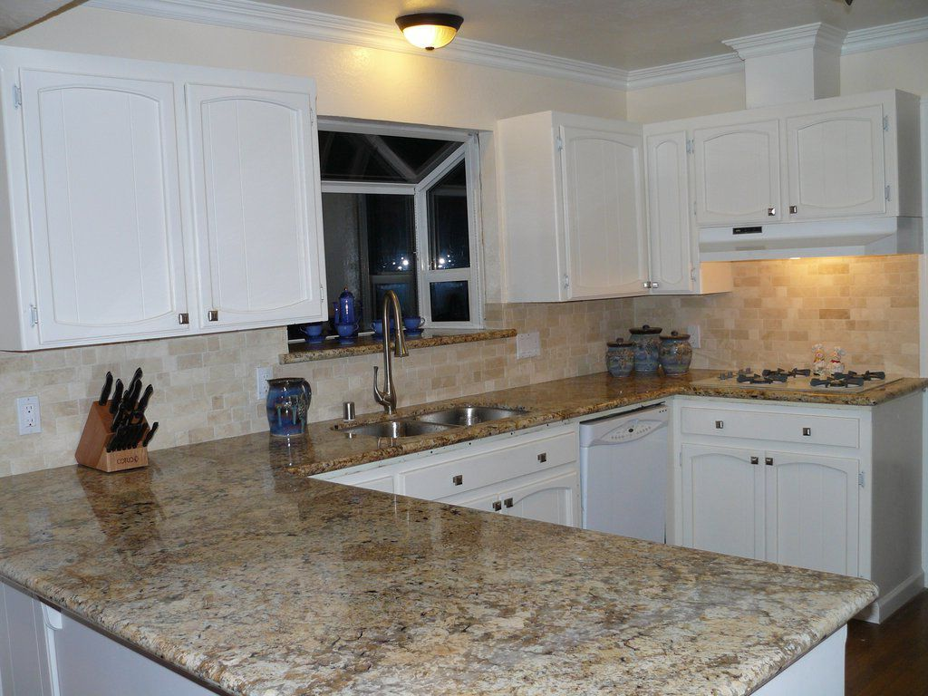 Image Result For Picking Countertops For White Cabinets  Kitchen Extraordinary Kitchen Backsplash Tile Designs Pictures 2018
