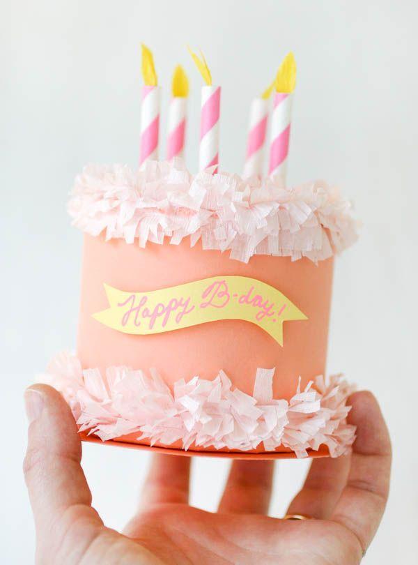 Amazing Paper Birthday Cake Box Oh Happy Day Diy T Box Birthday Funny Birthday Cards Online Inifofree Goldxyz