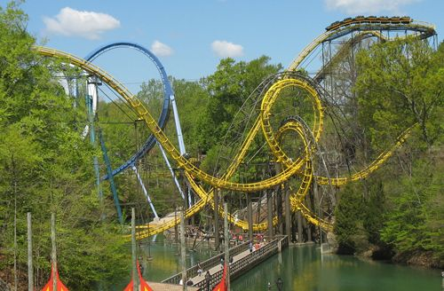 Busch Gardens Williamsburg Va The Lochness Monster Roller
