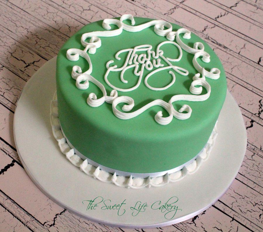 Thankyou121412jpg Thank You Cake Cake Cake Decorating Piping