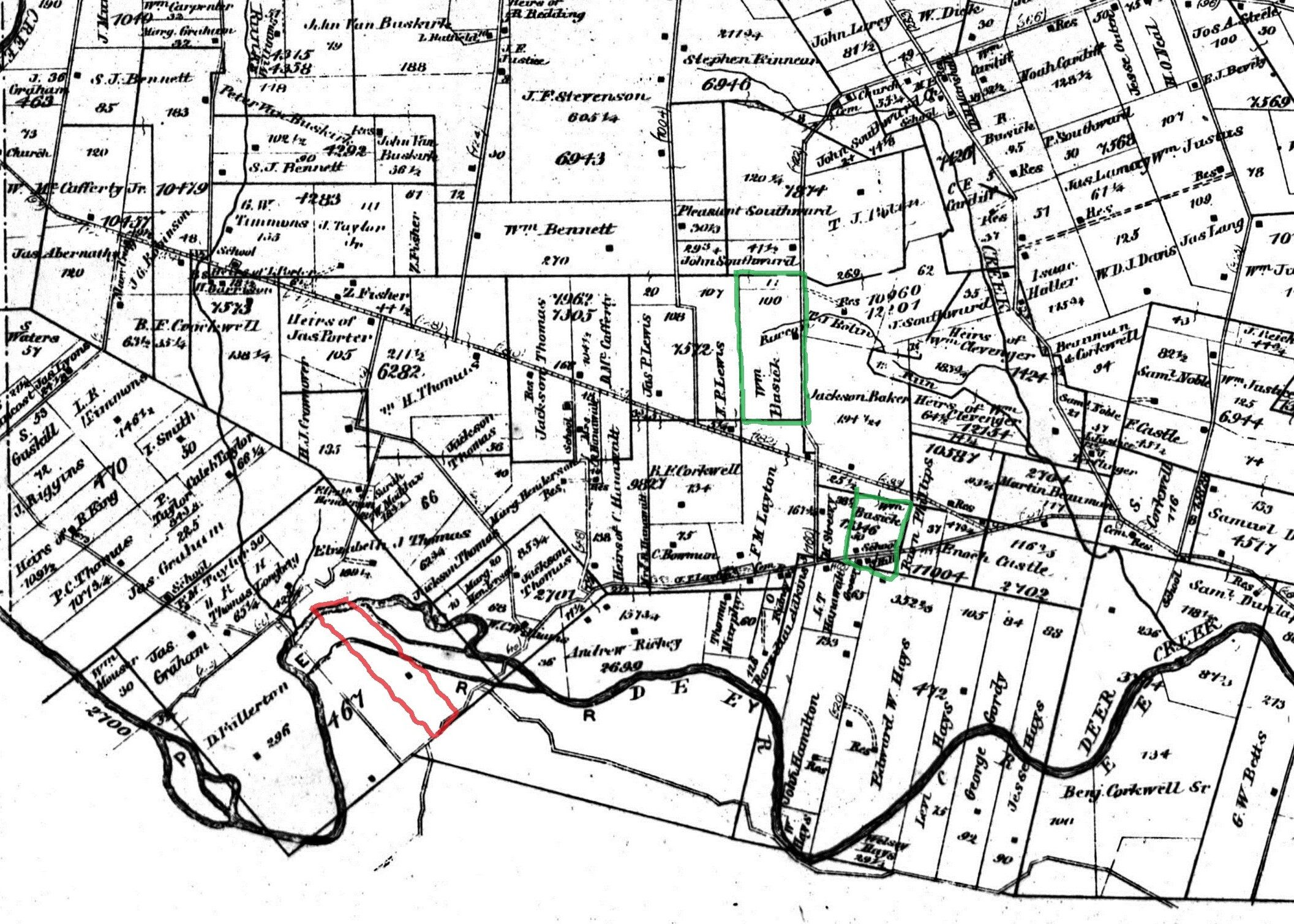 Pickaway County Ohio Land Ownership Plot Map Monroe And Perry