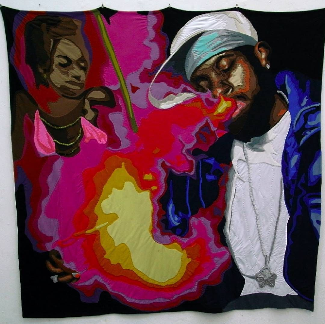 Back in 2008 Anne Brenneke made four wicked #hiphop #quilts. She's made none since but that's cool because these bad boys are a terrific legacy. #mrxstitch #quilt #gangsta via The Mr X Stitch official Instagram  Share your stitchy 'grams with us - @mrxstitch #xstitchersofinstagram #mrxstitch