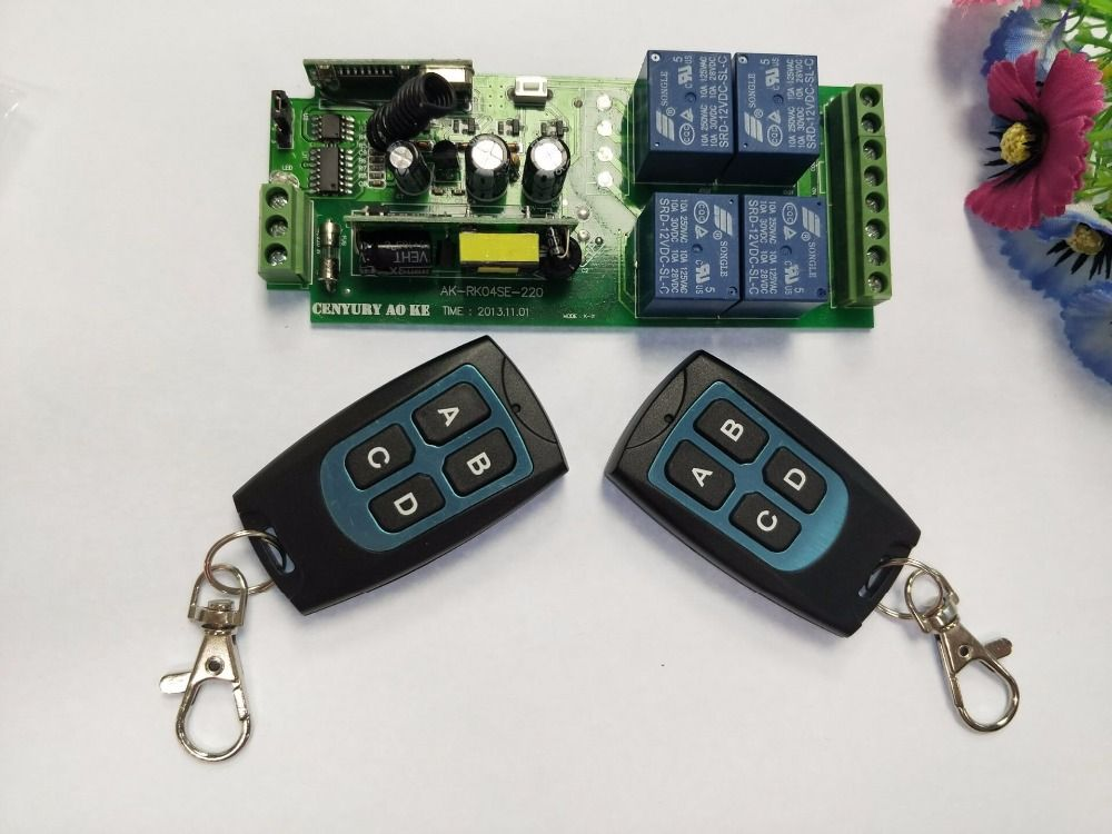 85v 250v 110v 220v 230v 4ch Rf Wireless Remote Control Relay Switch Security System Garage Doors Rollin Security System Remote Control Electronic Accessories