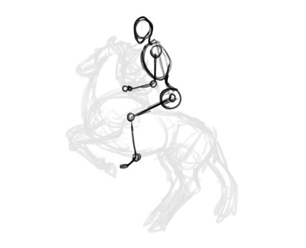 How To Draw Horse Rider Pose Sitting Rearing 3 Anatomy Ref