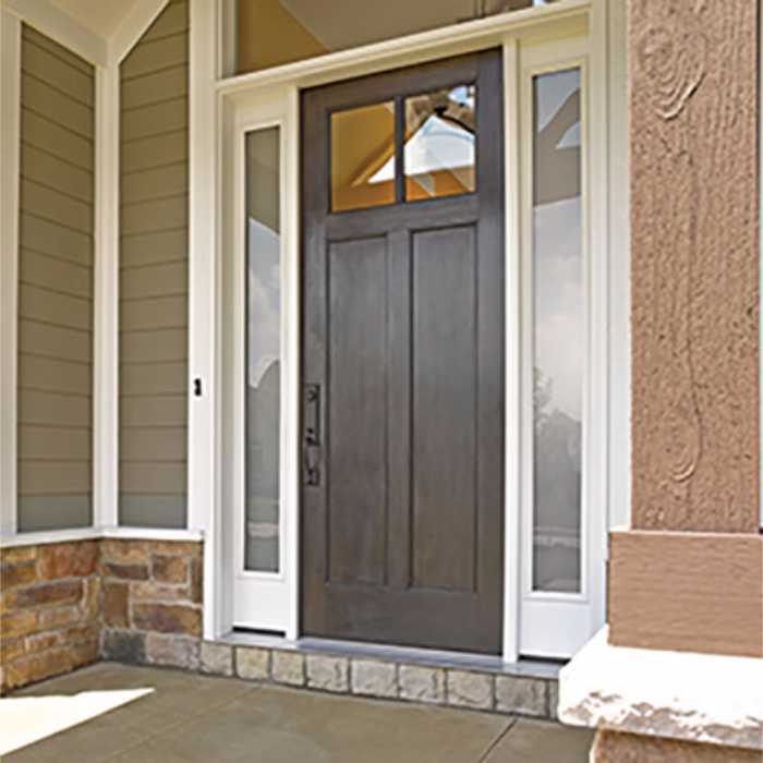 Entry doors front doors we install therma tru classic for Therma tru fiberglass entry doors prices