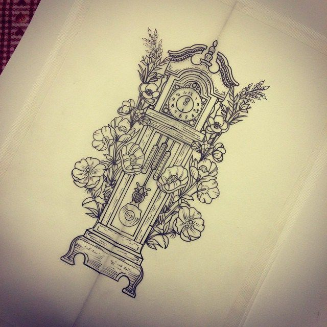 About Grandfather Clock Tattoo On Pinterest Time Tattoos Tattoo Clock Tattoo Grandfather Clock Tattoo Time Tattoos