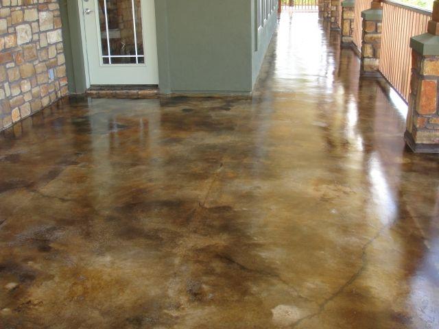 Acid Stained Concrete floor - exterior.