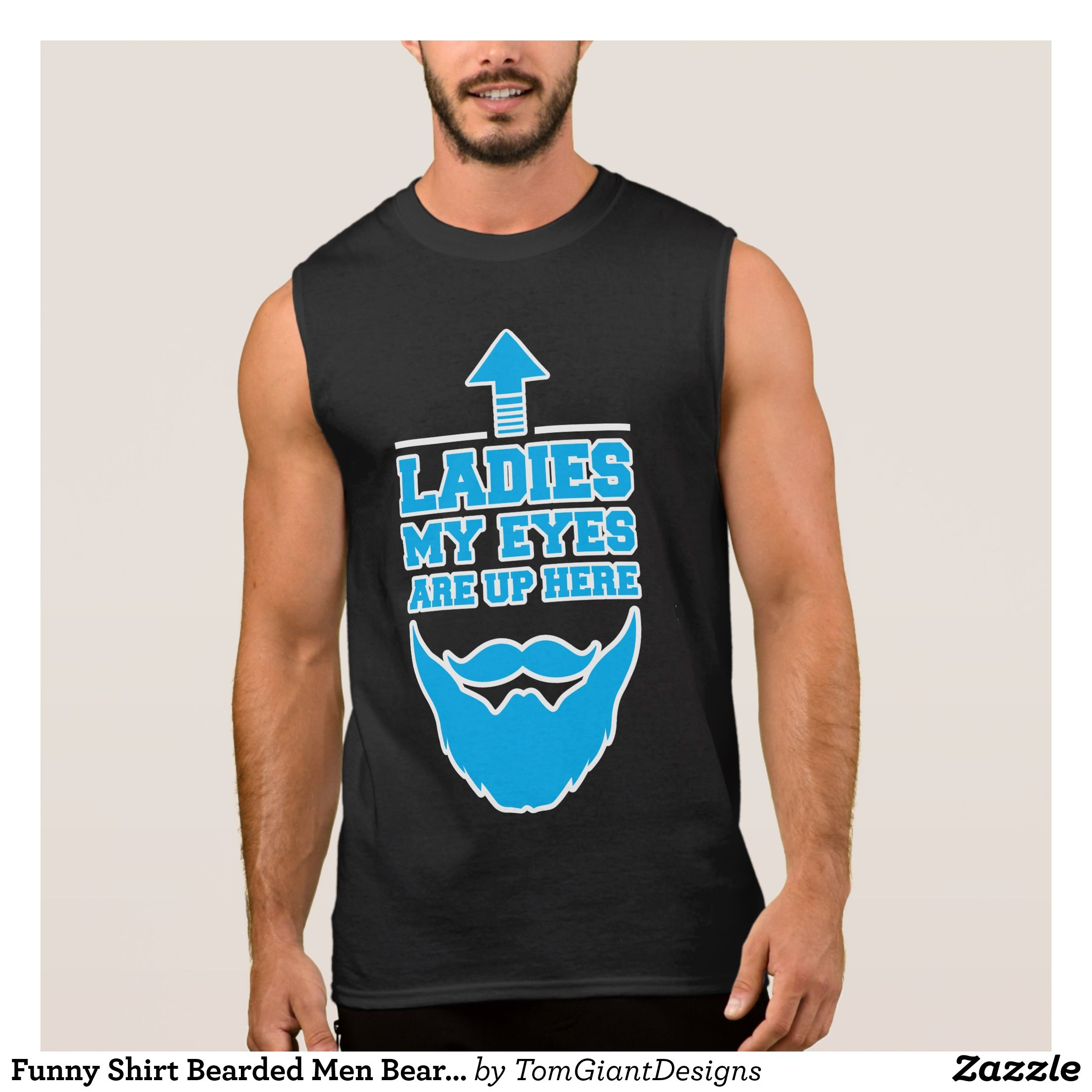 dd06ec7ab012bd Funny Shirt Bearded Men Beard Manly Father s Day - Comfy Moisture-Wicking  Sport Tank Tops By Talented Fashion   Graphic Designers -  tanktops  gym   exercise ...