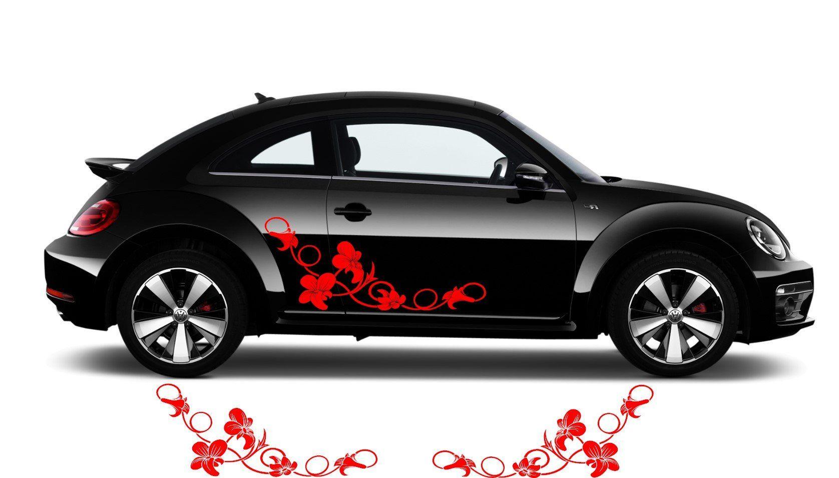 Floral Flower Swirl Car Decal Sticker Flower Car Decal 001 Etsy Auto Adesivos [ 955 x 1676 Pixel ]