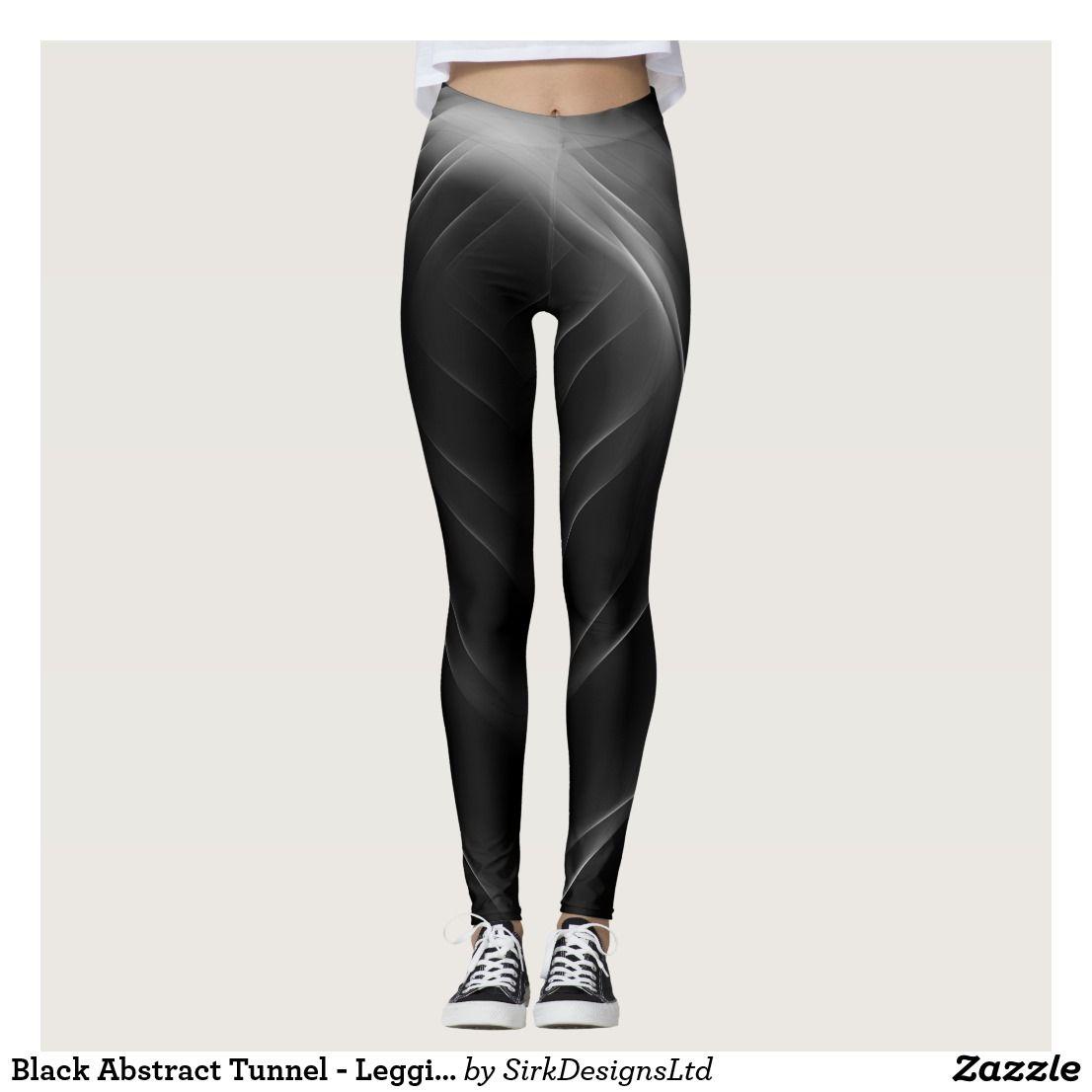 b414300393 Black Abstract Tunnel - Leggings   Leggings   Pinterest   Leggings, Black  abstract and Black