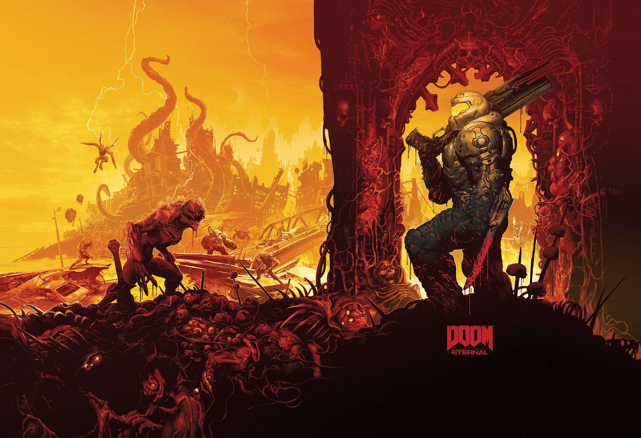 Doom Eternal Art Doom Videogame Doom Game Art
