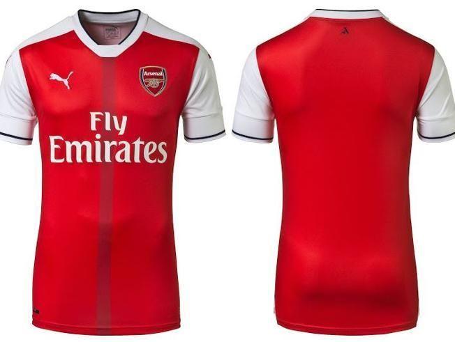 La camiseta del Arsenal para la temporada 2016/17