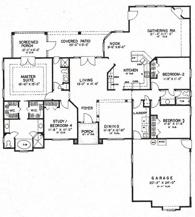 27 Best Images About One Car Garage Plans On Pinterest: Florida Plan: 2,409 Square Feet, 4