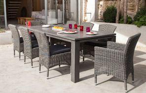 Collection Océo de ProLoisirs La table Latino et les sièges Lagune ...