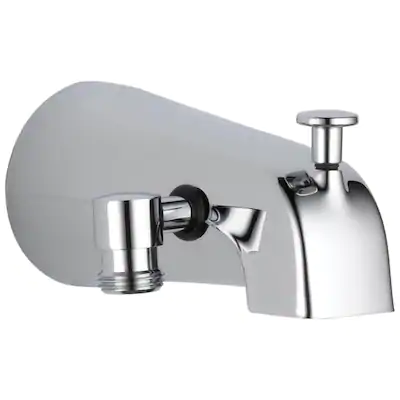 Delta Chrome Bathtub Spout With Diverter At Lowes Com In 2020 Tub Spout Delta Faucets Bathtub Faucet