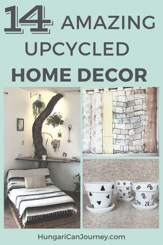 14 amazing DIY Upcycled Home Decor projects. We love to re-purpose pallets drift wood and old junk. Decorate your home on a budget with these DIY tips.
