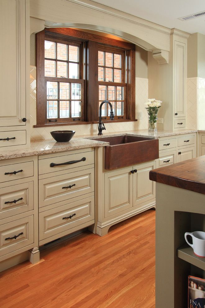 Kitchen Loans Travel Trailers With Outdoor Kitchens Pretty Copper Sink House Designs Traditional Minneapolis Home Apron Front Arch Bronze Cambria Cream Distressed