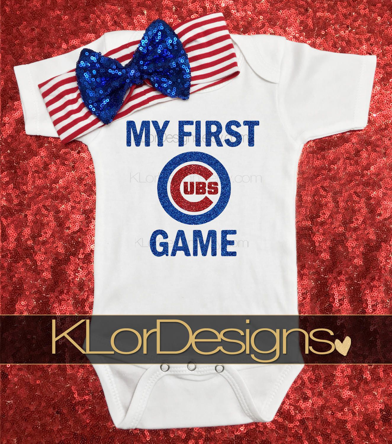 quality design 2cb53 7d47a First Cubs Game, Cubs baby, Chicago baby, baby girl clothing ...